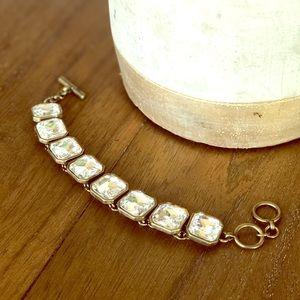 Chloe + Isabel Retro Glam Square Crystal Bracelet